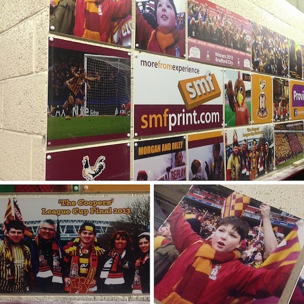 Add your best BCAFC memory to the Claret & Amber Wall in your Stand