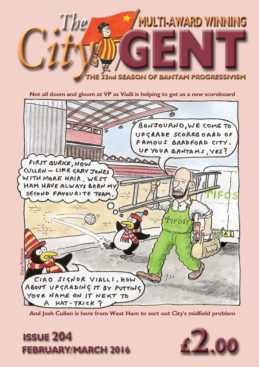 Be in the cartoon on the City Gent cover
