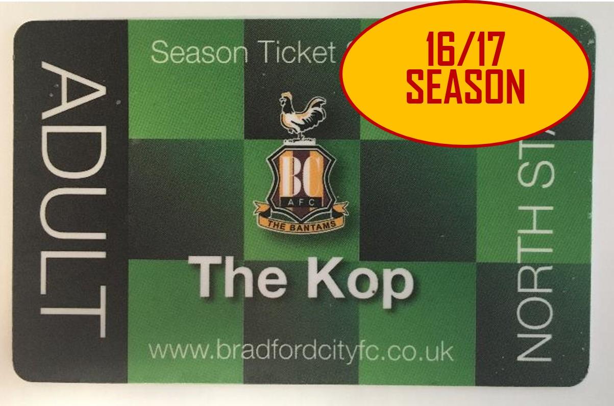 Chance to win - Bradford City 2016/17 Season Ticket