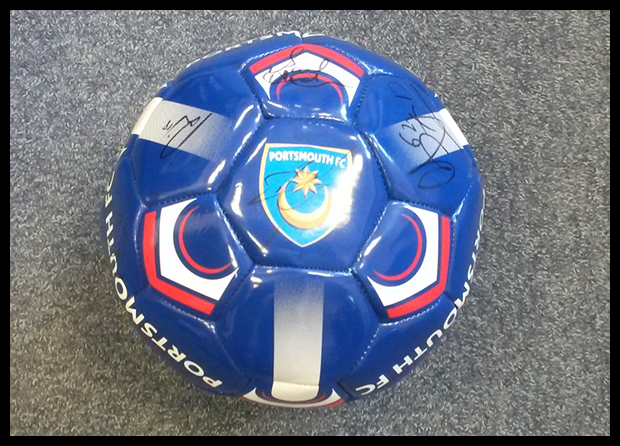 Exclusive Pompey Football Signed by the 2013/2014 team