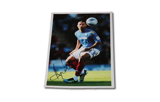 Signed A5 Photo of Pompey Legend Hayden Mullins
