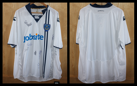 Signed 2009/10 Pompey Away Jersey