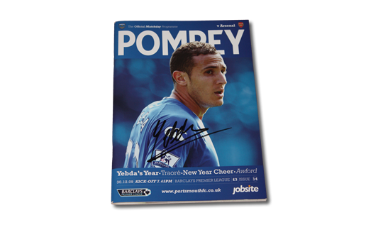 2009 Pompey v Arsenal Premier League Programme signed by Hassan Yebda