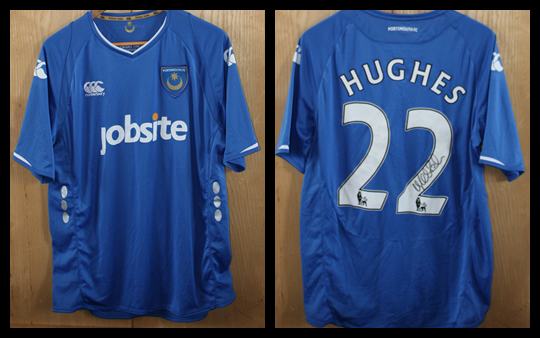2009/10 Replica Pompey Home Jersey signed by Richard Hughes