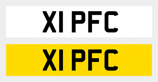 "Get registration ""X1 PFC"" for your vehicle"