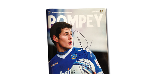 2012 Pompey vs Leeds programme signed by Joel Ward