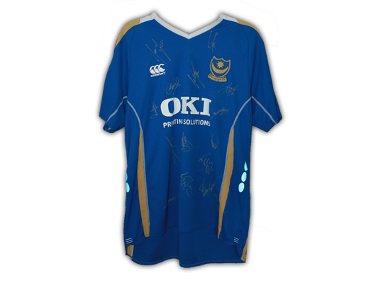 2007/8 signed Pompey replica home jersey
