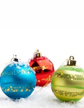 Christmas balloons, decorations and more.