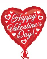 Valentine sweets, treats, balloons & gifts.