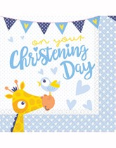 Giraffe Christening Decorations and Partyware