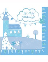 Blue Church Christening Decorations and Partyware