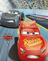 Party supplies and tableware themed with Disney Cars.