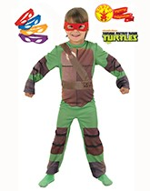 Children's fancy dress costumes with a TV character theme.