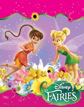 Party Supplies themed with Tinkerbell and the Disney Fairies