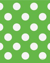 Party supplies and tableware with a green Decorative Dots theme