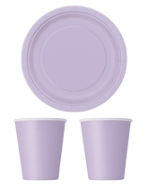 Party Tableware themed in Lavender
