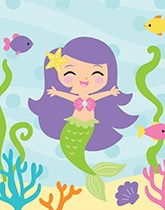 Mermaid Friends party supplies and decorations.