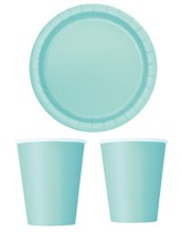 Party Tableware themed in Mint Green