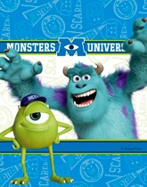 Party Supplies and decorations with a theme of Disney's Monsters University