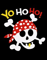 Party supplies and tableware with a pirates theme