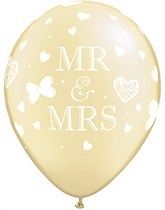 Qualatex latex balloons printed with designs for wedding, anniversary, engagement, and hen night.