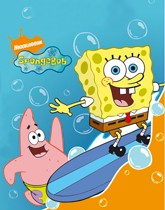 Party supplies and decorations with a SpongeBob Squarepants theme