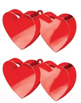 Balloon weights and ribbons for Valentine's Day