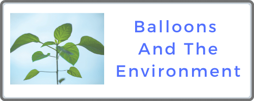 Balloons and the environment