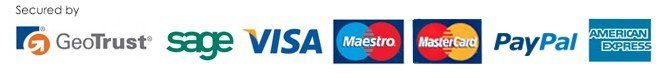 We accept Visa, Maestro Mastercard and AMEX through SagePay & PayPal