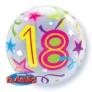 """Age 18 Brilliant Stars Bubble Balloon 22"""""""