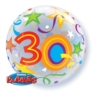 "30th Birthday Brilliant Stars Bubble Balloon 22"""