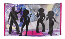 Giant Disco Fever Polyester Backdrop Banner 1.5M x 90cm