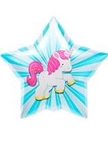 """Unicorn Starburst 18"""" Foil Balloon"""