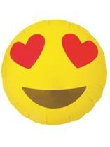 "Heart Eyes Emoji 18"" Foil Balloon"