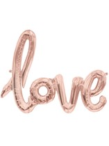 "Love Script 40"" Foil Balloon - Rose Gold"
