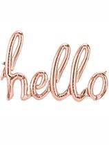 "Hello Script 31"" Foil Balloon - Rose Gold"
