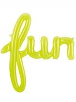"Fun Script 27"" Foil Balloon - Lime Green"