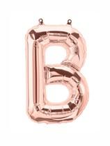 """16"""" Letter B Rose Gold Foil Balloon"""