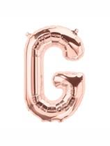 """16"""" Letter G Rose Gold Foil Balloon"""