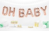 Rose Gold Oh Baby Foil Balloon Banner