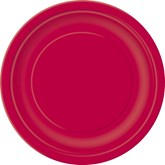 """Ruby Red 9"""" Round Paper Plates 8pk"""