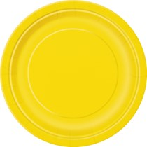 "Sunflower Yellow 9"" Round Paper Plates 16pk"