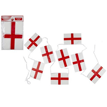 St. George's Flag Plastic Bunting 20ft