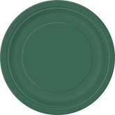 """Forest Green 7"""" Round Paper Plates 8pk"""
