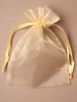 Large Gold Organza Favour Bags - 12pk