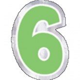 Number 6/9 Balloon Stickers 48pk