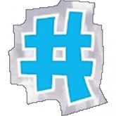 Hashtag Balloon Stickers 48pk