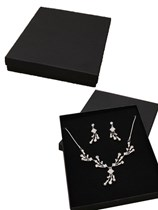 Black Necklace & Earring Gift Boxes 12pk