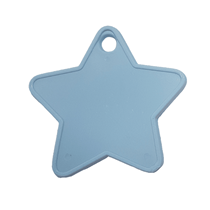 Baby Blue Plastic Star Balloon Weights 100pk