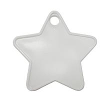 White Plastic Star Balloon Weights 100pk